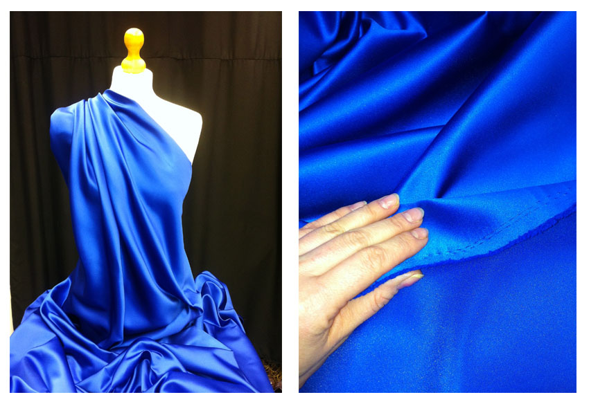 Duchess Satin Fabric ITALIAN MADE Material In 40 Colours HIGH